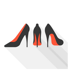 Woman high heels with long shadow vector