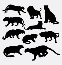 Cheetah panther leopard lion silhoutte vector