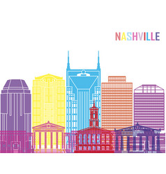 nashville v2 skyline pop vector image