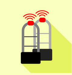Shoplifter scanner icon flat style vector