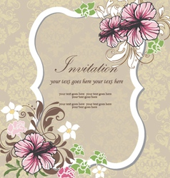floral invitation card vector image
