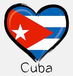 love Cuba flag vector image