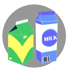 Milk carton pack vector