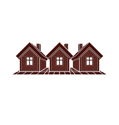 Simple cottages country houses for use in vector