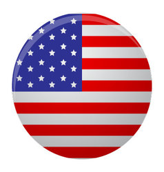 Icon label glossy usa round vector