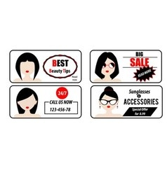 Advertisement banners templates with woman avatars vector