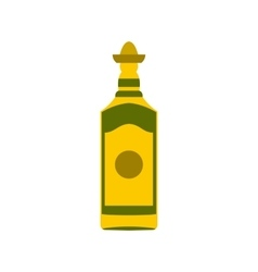 Tequila bottle icon flat style vector