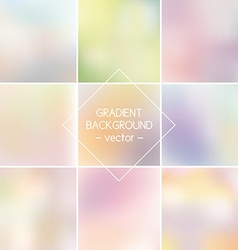 Set Blurred backgrounds Backgrounds for design vector image