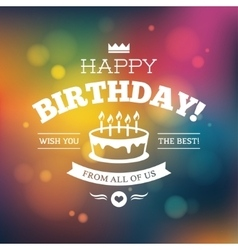 Bright colorful birthday card design vector
