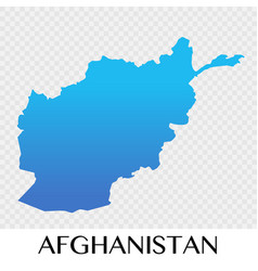 afghanistan map in asia continent design vector image
