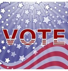 American vote vector
