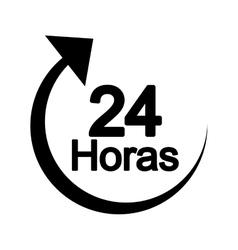 arrow 24 hours service vector image