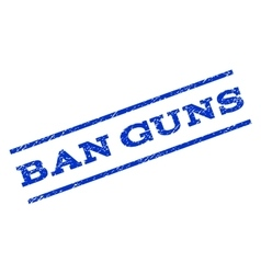 Ban guns watermark stamp vector