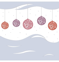Beautiful festive greeting card with balls vector image