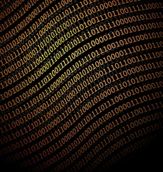 Binary data background vector