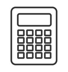 black and white calculator graphic vector image