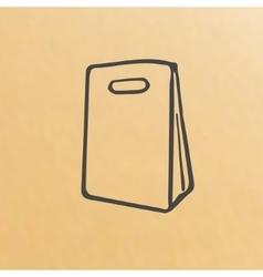 cartoon of three brown paper bags vector image vector image
