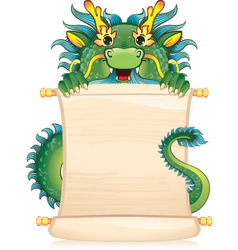 Dragon with scroll - symbol of Chinese horoscope vector image vector image