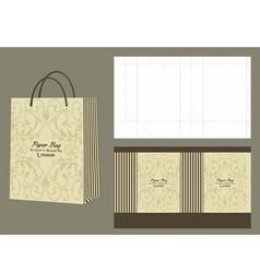 Elegant and minimalist paperbag vector