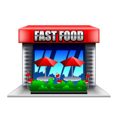fast food restaurant isolated on white vector image vector image