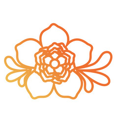 Flower with leaves desi vector