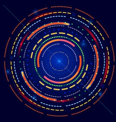 Futuristic glowing ring vector image