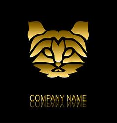 golden cat symbol vector image vector image