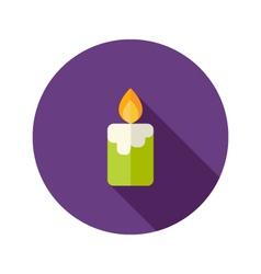 Halloween Candle Flat Icon vector image