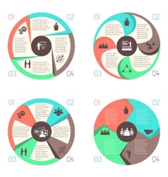 Meet people online infographic pictograms set vector image vector image
