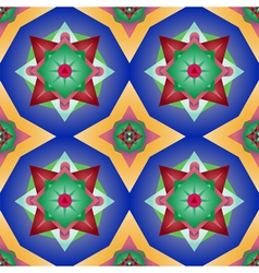 mexican floral seamless pattern vector image