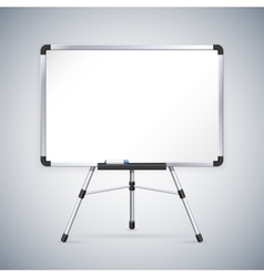 Office whiteboard on tripod vector