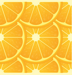 orange citrus fruit healthy vegan food seamless vector image vector image