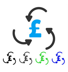 Pound swirl flat icon vector