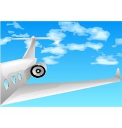 Private jet vector
