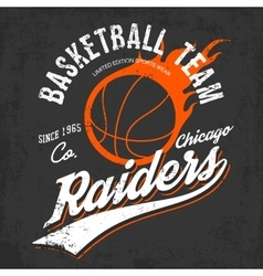 Raiders basketball team logo for sportwear vector