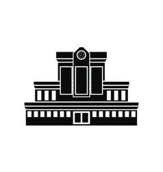 Railway station icon vector