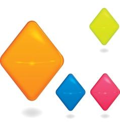 Rhombus blank award symbol vector image vector image