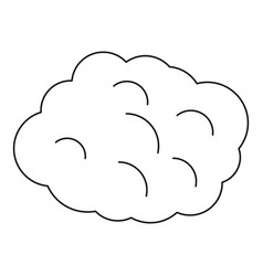 Round cloud icon outline style vector