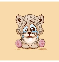 Sad leopard cub crying vector