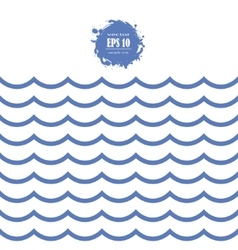 seamless sea wave vector image vector image