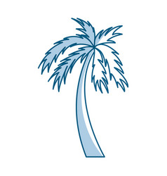 shadow palm cartoon vector image vector image