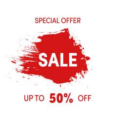 special offer sale sign grunge design shopping vector image