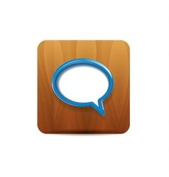 speech bubbles on wood vector image