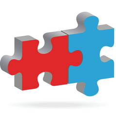 two puzzles vector image
