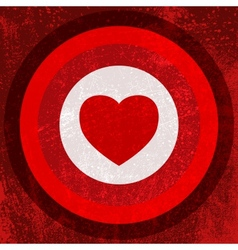 Valentine Target vector image vector image