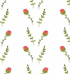 Watercolor seamless pattern with roses vector