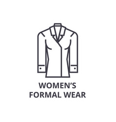 women formal wear line icon outline sign linear vector image vector image