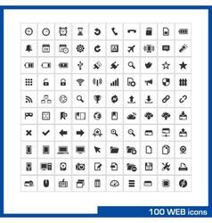 100 web icons set vector image vector image