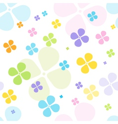Spring clover background vector