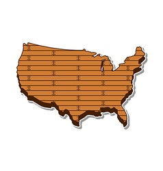 Usa wooden map vector